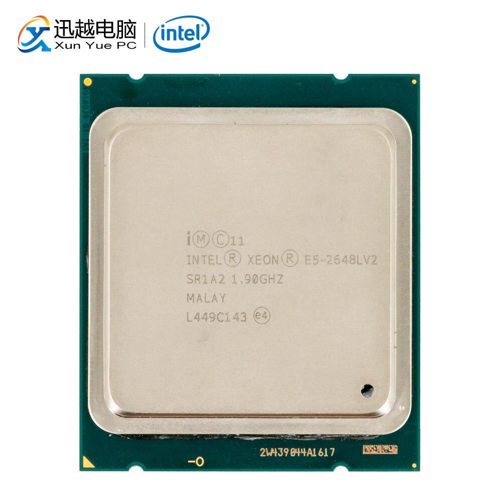 Processeur d'ordinateur de bureau Intel Xeon E5-2648L V2 2648L V2 dix cœurs 1.9 GHz 25 mo L3 Cache LGA 2011 serveur utilisé CPU