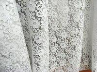 Blanco stretch Encaje Telas, elástico Encaje Telas, bordado floral retro Encaje 5 yardas