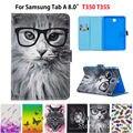 SM-P350 чехол для Samsung Galaxy Tab A 8 0 дюймов SM-T350 T355 чехол умный чехол Модный чехол для планшета из искусственной кожи с подставкой