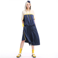 IRINAW087 new arrival summer 2018 cupro casual loose plus size hooded sets women