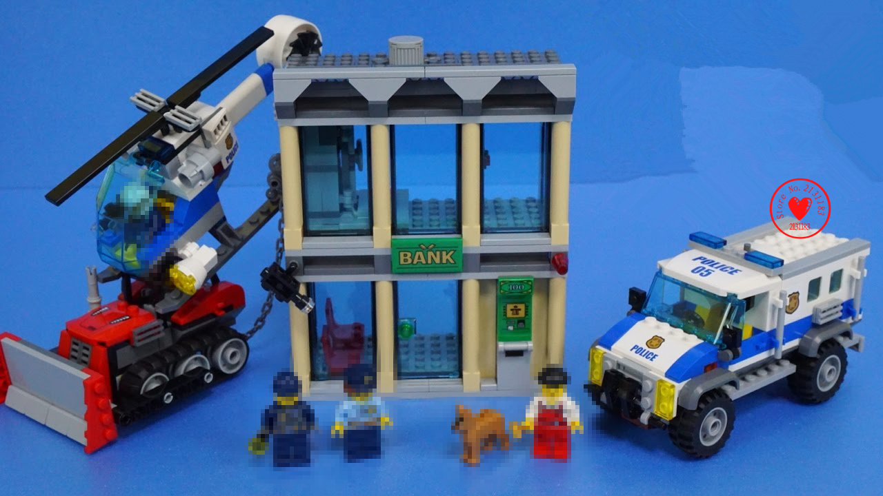 New City Police BULLDOZER BREAK-IN Building Blocks bricks Figures Model Toys 60140 compatible legoes gift kid set city police lepin 40011 882pcs city series police department model building blocks bricks toys for children gift action figures