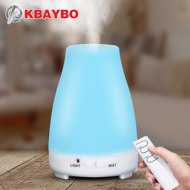 KBAYBO Ultrasonic Humidifier Aromatherapy Oil Diffuser Cool Mist Color LED Lights Esential Oil Diffuser Remote Control