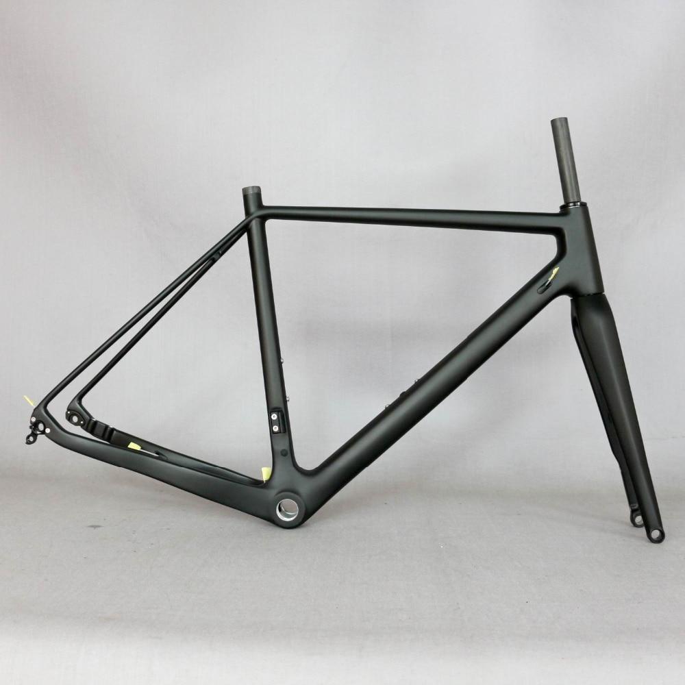 2019 Thru Axle 142mm disc cyclocross carbon frame Gravel 700C Carbon Bike Frame Di2 Carbon Cyclocross