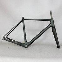 2019 przez oś 142mm tarcza cyclocross rama karbonowa żwir 700C węgla rama rowerowa  Di2 węgla Cyclocross rama z 100*12mm widelec w Ramy rowerowe od Sport i rozrywka na