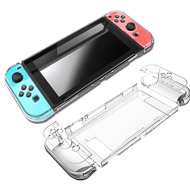 Hard PC Protection Cover For Nintend Switch NS NX Case Transparent Crystal Shell Console Controller Accessories With Stand Cases(China)
