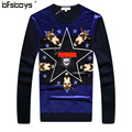 2016  hot sale  High quality new brand clothing man 's autumn sweater Pleuche knit for O-neck for men F6658
