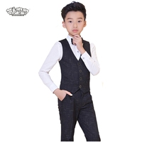 Suit For Boys Children Singger Stage Performance Prince Formal Suits Wedding Birthday Flower Boys School Suit Costume 4Pcs N89