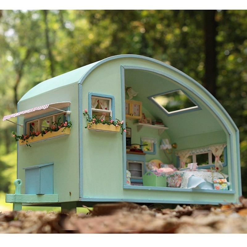 Жиһаз DIY қуыршақ үйі Wodden Miniatura Doll - Қуыршақтар мен керек-жарақтар - фото 3