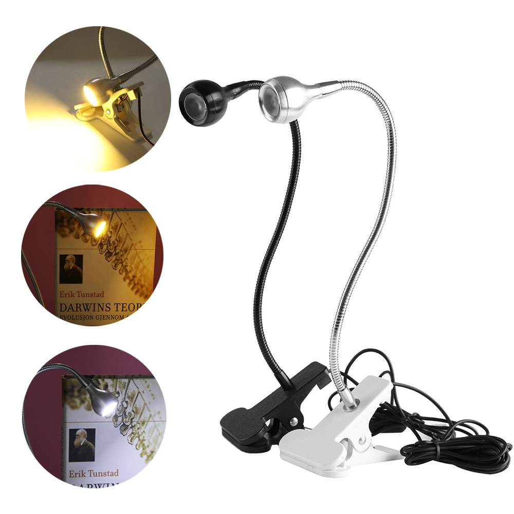 1 Stück Tragbare Mini White & Warmweiß Lesen Led Licht Clip-auf Neben Bett Tisch Schreibtisch Lampe Flexible Buch Studie Licht