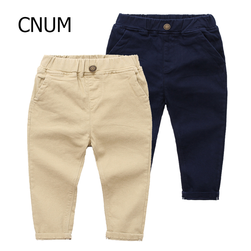 CNUM Children Boys Pants Designs Stretch Kids Cloth Boys Pants Autumn Cotton Long Striped Years Trouser Young Boys School Pants