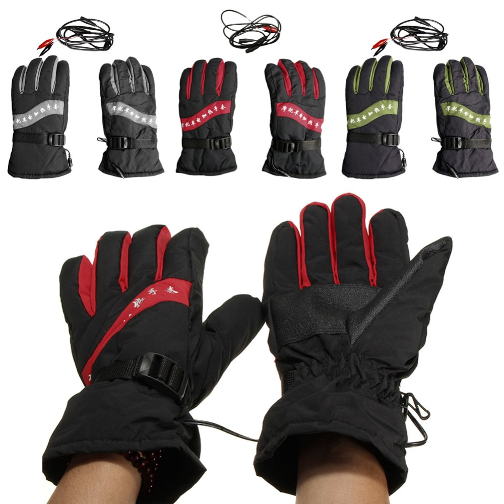 Heated motorcycle gloves new zealand - 12v Motorcycle Outdoor Hunting Electric Warm Winter Warmer Heated Gloves China Mainland