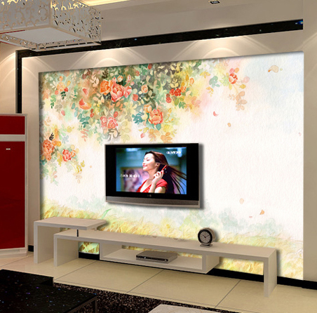 Custom 3D photo wallpaper Large living room TV wall mural painting wallpaper bedroom romantic rose garden wallpaper large mural living room bedroom sofa tv background 3d wallpaper 3d wallpaper wall painting romantic cherry