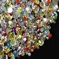 Misto tamanho cor plana volta acrílico pedrinhas Nail Art strass diy acessórios decorativos bonito brilhante pedras de cristal