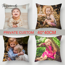 Fuwatacchi Private Cushion Cover 40cm*40cm Personal Customize Life Photo Customization Decoration Throw Pillow Covers Pillowcase