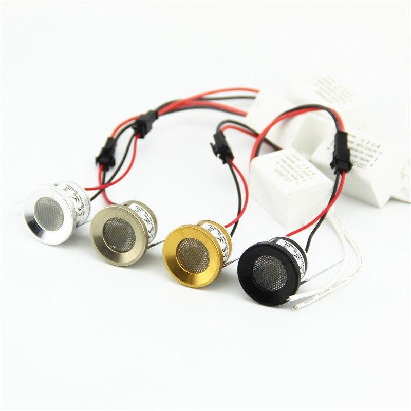 teto lampada spotlight 1w mini cob downlight para gabinete de joias 05