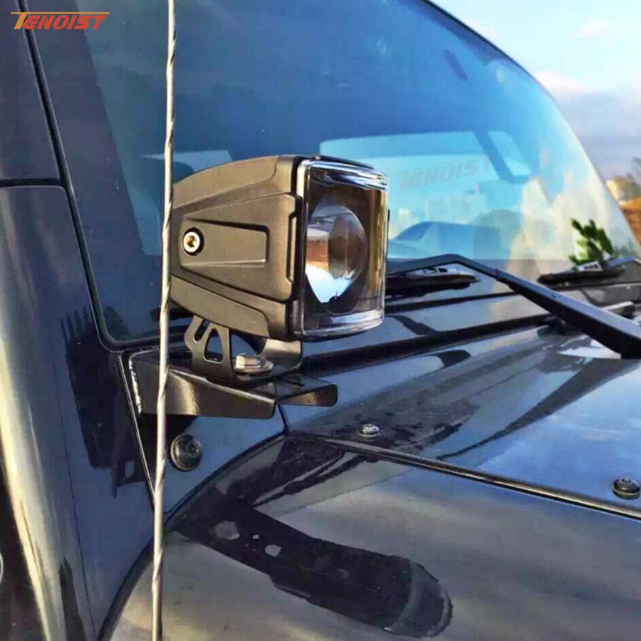 Light Sourcing 2PCS 3.5 Inch 4D Lens 30W Colorful A-Pillar Bumper Worklight For Wrangler Car SUV Offroad Truck ATV 12V 24V литой диск replica fr lx 98 8 5x20 5x150 d110 2 et54 gmf