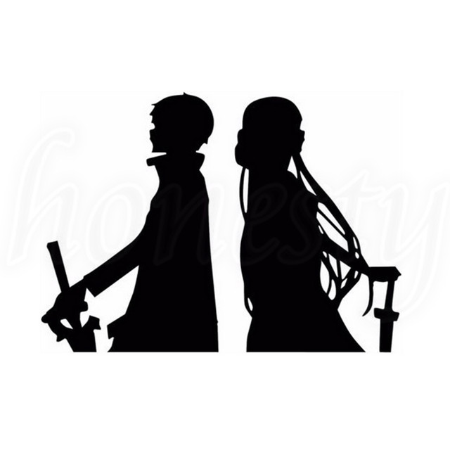 sword art online car vinyl decal van bumper laptop sticker pc window glass home auto gift