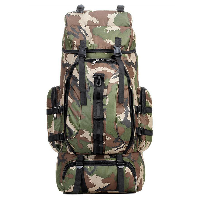 Big Men Sport Bags 70L Outdoor Tactical Backpack Multifunction Molle Bag Water Resistant Military Rucksack For Climbing Camping 70l internal metal frame molle backpack rucksack water resistant bags 600d camouflage men long distance travel backpack t0071