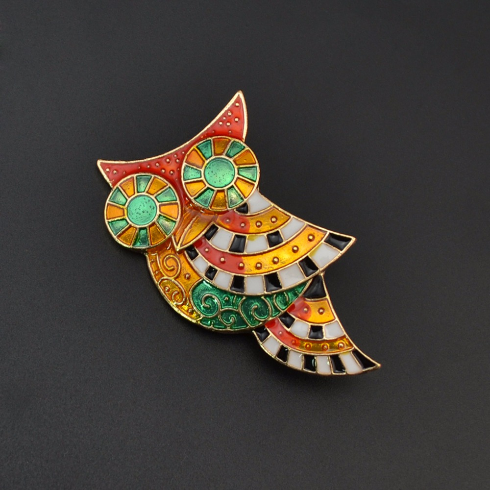 Idealway Cute Jewelry Small Simulated Pearl Shell Owl Brooches Christmas Gifts Women Accessories Shirt Enamel Brooch Pins