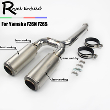 FZ-6N FZ-6S Full System Slip On For Yamaha FZ6N FZ6S FZ6 FZ 6 Motorcycle Exhaust Muffler Escape with Middle Mid Link Pipe Tube