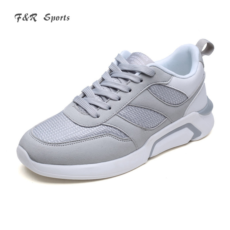 F&R 2018 New Men Mesh Breathable Running Shoes Light Weight Sneakers Quality Sports Trending Walking Tennis Shoes Size 39-44