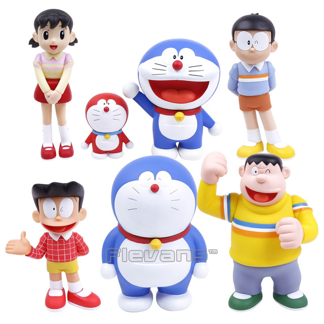 doraemon family nobi nobita minamoto shizuka pvc action figure
