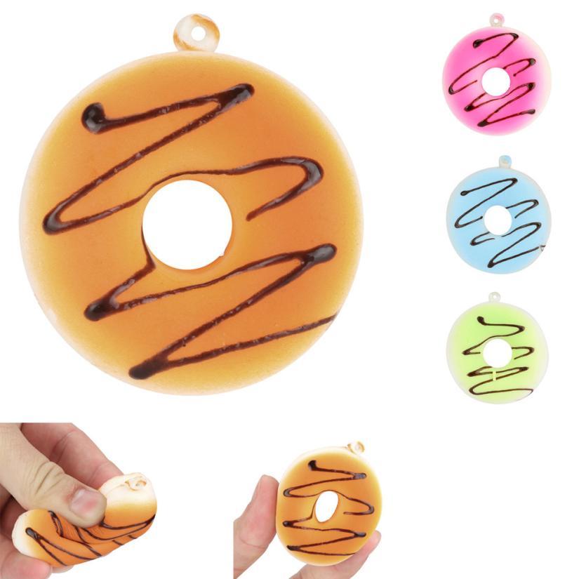 Squishy Doughnut Rising Squeeze Healing Fun Kawaii Toy Stress Reliever Decor AR Toy Dropship Y801