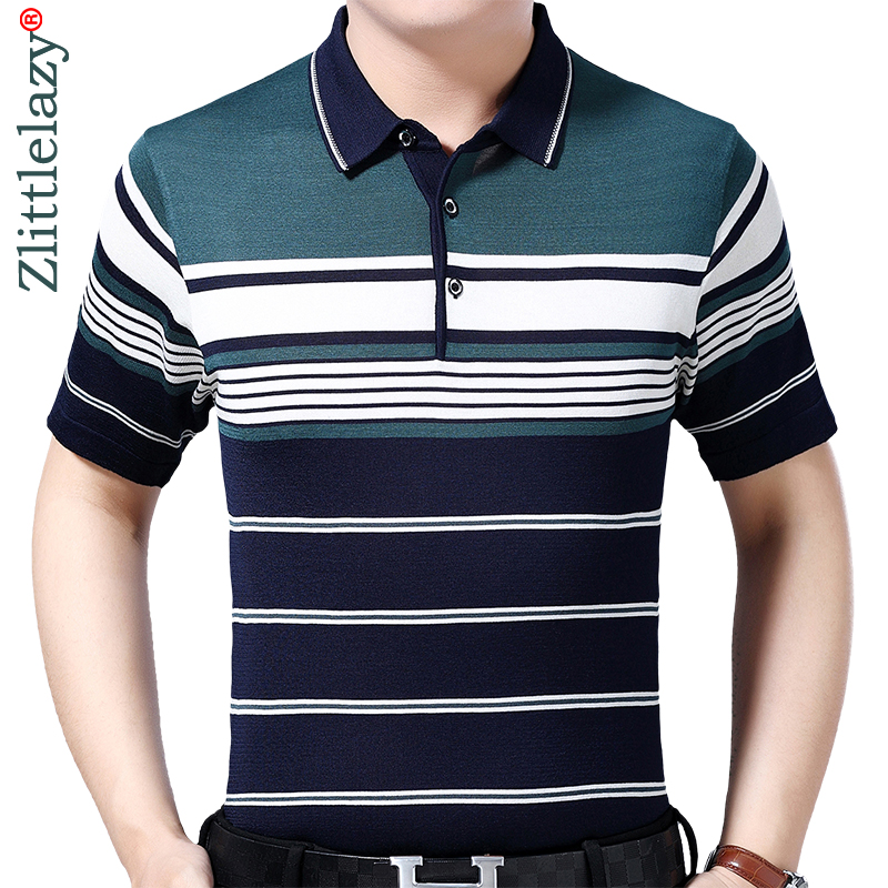 2019 brand casual summer striped short sleeve   polo   shirt men poloshirt jersey luxury mens   polos   tee shirts dress fashions 50532