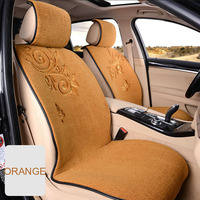 Warm Artificial Cashmere Vehicle seat Cover Computer Embroidery Winter Car seat Cushion Protector Decoration Universal