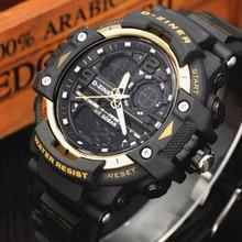 Moda Cuarzo Reloj de Los Hombres de Primeras Marcas de Lujo Hombres Reloj Digital LED Deportes Militares Relojes de Pulsera Masculino Impermeable Relogio masculino