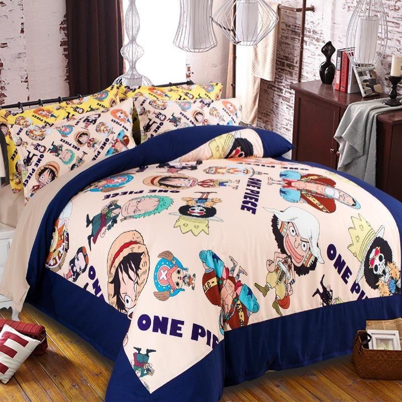 Copripiumino One Piece.Set Di Biancheria Da Letto Giapponese One Piece Anime Doppia