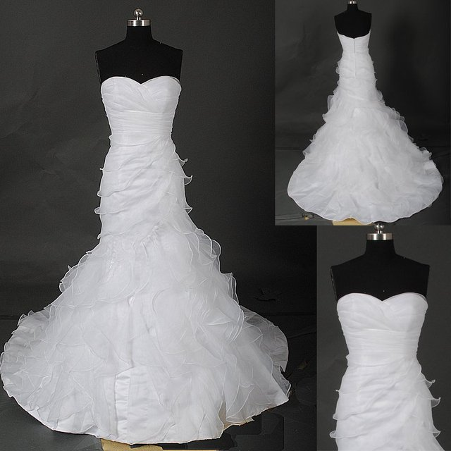 NEW Style AM214 Sweetheart Neckline Organza Wedding Dress Pattern ...