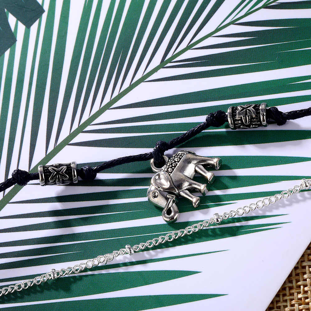 2019 винтажные серебряные Многослойные браслет с Луной для женщин и девушек, богемный жемчужный браслет на ногу, Женские Ювелирные изделия ручной работы, подарок
