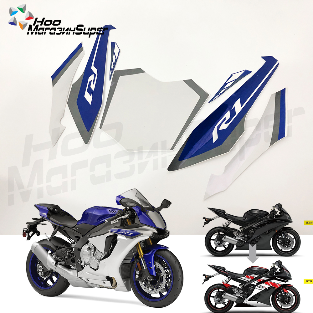For Yamaha YZF R1 2015 2016 2017 2018 YPX1015 Screen Printing Motorbike Racing Fairing Decal Moto Motorcycle Decals Sticker