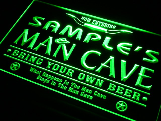 Man Cave Beer Bar Neon Light Sign 1