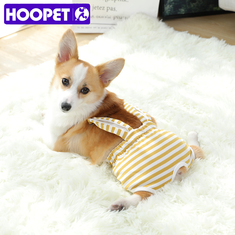 HOOPET Dog Physiological Pants Diaper Washable Female Dog Shorts Panties Jumpsuit Underwear Briefs For Dog