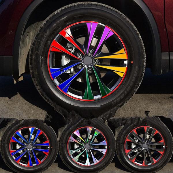 Brightly Colorful Reflective 18 Inch Rims Wheels Sticker Film For Renualt Koleos Z2CA739