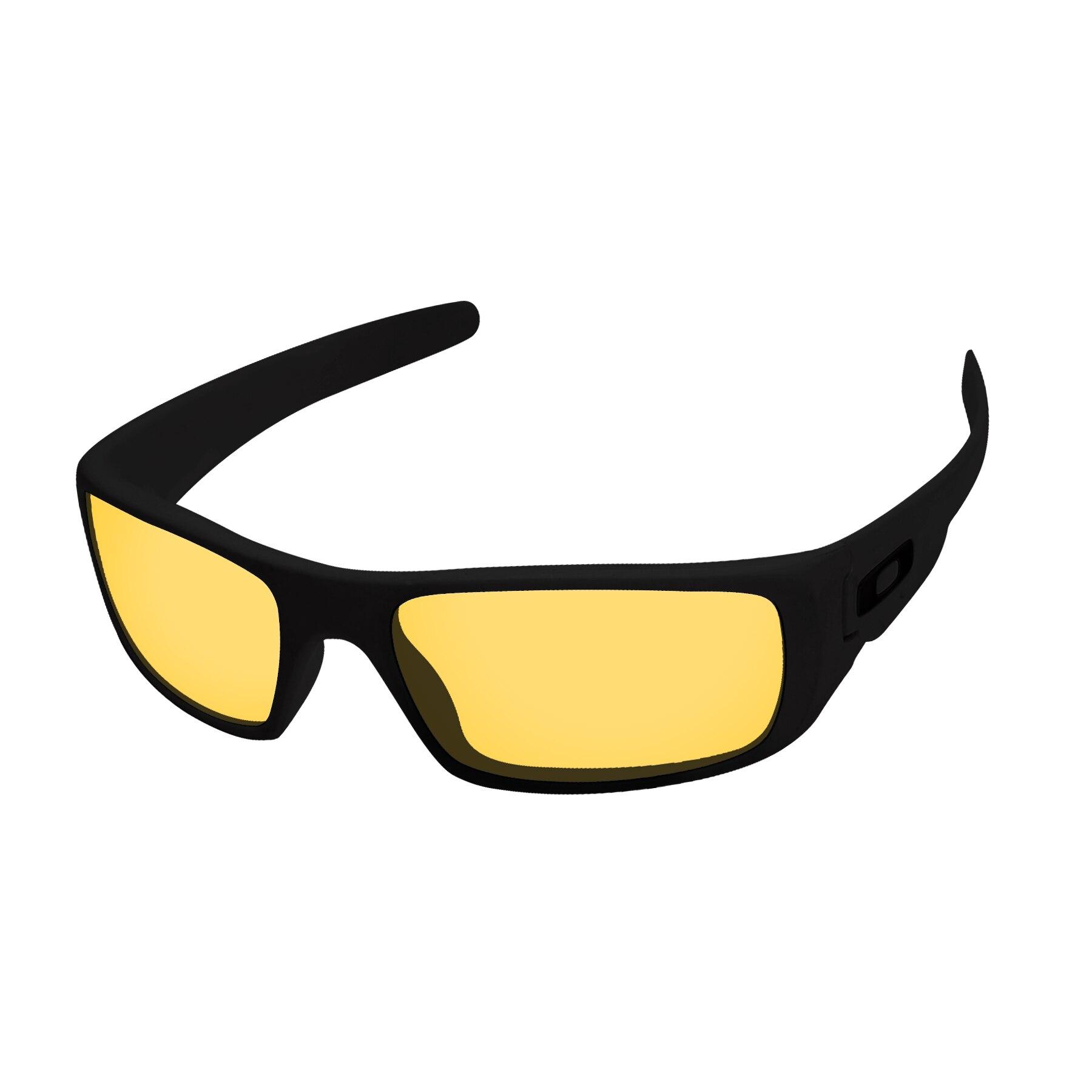 Papaviva Crystal Yellow Replacement Lenses For Crankshaft Sunglasses Frame 100% UVA & UVB Protection