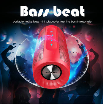 ZEALOT Style New S16 Bluetooth Speaker Mini Portable Wireless Column 3D Stereo Super Bass Loudspeaker Support AUX TF Card