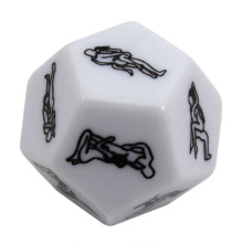 12 Sides Adult Game Flirt Fun Toy Gambling Party White Funny