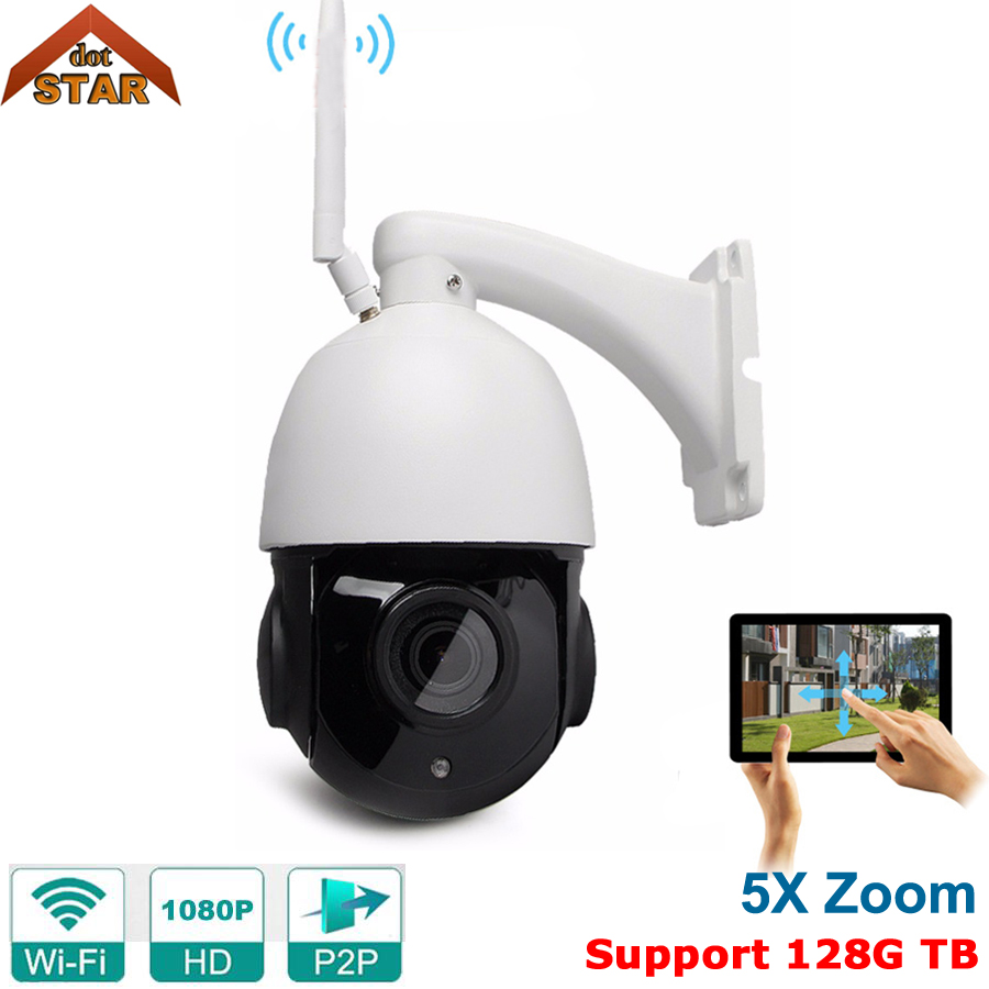 Wireless IP Camera outdoor WiFi Camera CMOS PTZ ONVIF 5x optical Zoom Home Security Surveillance Camera dc v100 15mp cmos digital camera w 5x optical zoom 4x digital zoom sd slot pink 2 7 tft