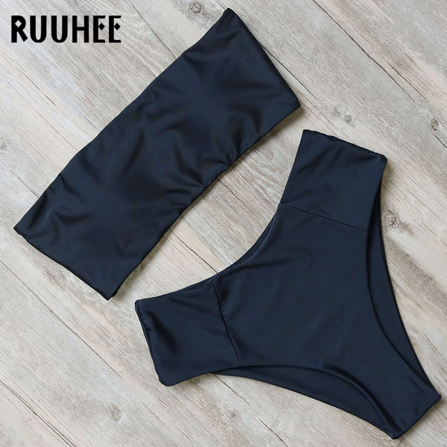 HTB1fh9gX7H0gK0jSZPiq6yvapXau RUUHEE Bandage Bikini Swimwear Women Swimsuit High Waist Bikini Set 2019 Bathing Suit Push Up Maillot De Bain Femme Beachwear