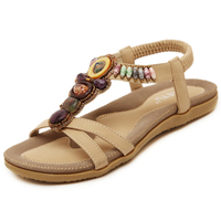 Women Summer Sandals shoes Woman Gladiator Sandals Flat shoes leisure female Diamond Bohemian Ladies Shoes