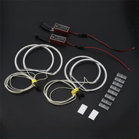 2018 Professional Non HID Halogen Headlight White/Yellow LED CCFL Angel Eyes Halo Rings Kit for BMW E46 3 Series 1999 2004