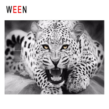 WEEN Fierce Leopard Diy Painting By Numbers Animal Oil On Canvas Cuadros Decoracion Acrylic Wall Art Home Decor 2018