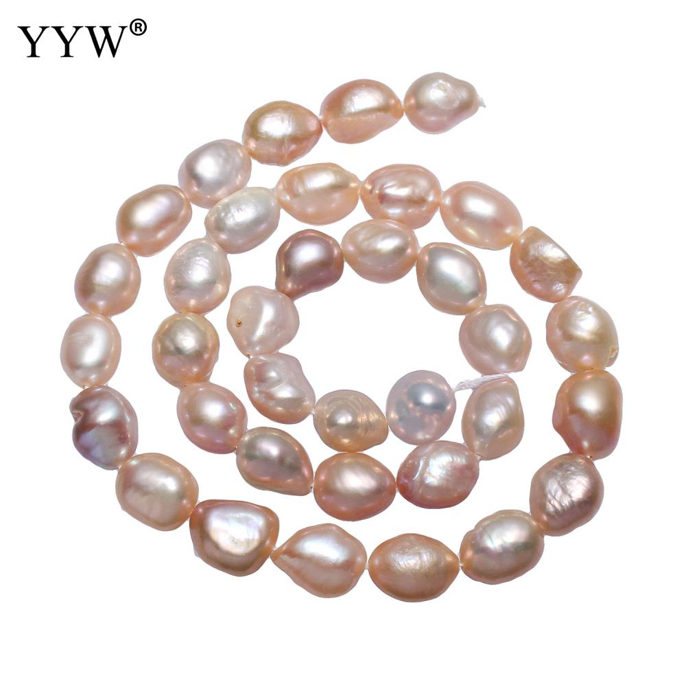 """9-10mm Mixed Color Potato Natural Freshwater Pearl Beads Strand Loose 15"""" For DIY Necklace Bracelets Jewelry Making Findings"""