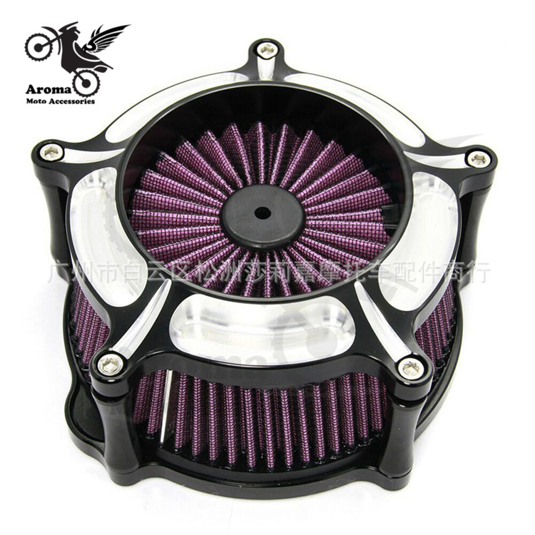 Motorcycle Air Cleaner Intake Filter System Cover CNC Motorbike Accessories Air Filter Cleaner for Harley Touring street Glide air filter intake cleaner for yamaha mt 07