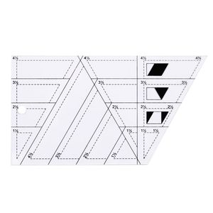 Image 2 - 5pcs/set Quilting Sewing Patchwork Craft Scale Ruler Triangle DIY Handmade Tailor Home Tools