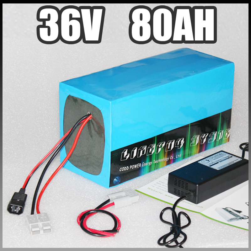 36v 80ah electric bike battery <font><b>3000W</b></font> E <font><b>Scooter</b></font> lithium Battery with BMS Charger 36v li ion battery pack image