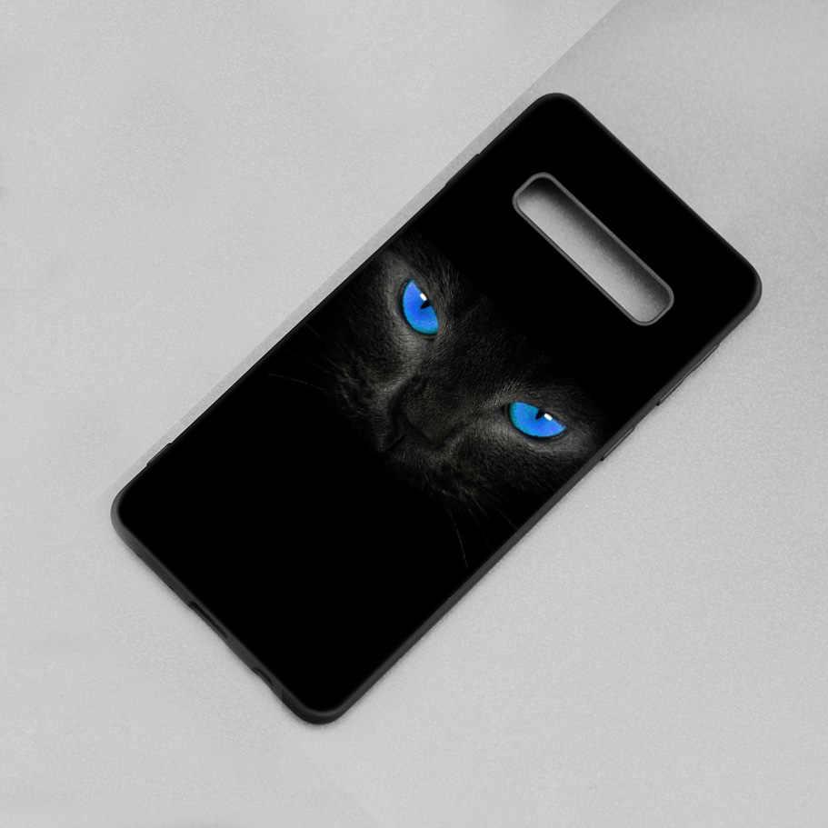 Медведь кошка собака черный силиконовый чехол для samsung Galaxy S9 S8 A8 A6 J4 J6 плюс A7 A9 J8 2018 S7 края примечание 9 8 чехол Коке